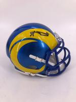 Aaron Donald Signed Rams Speed Mini Helmet (Beckett COA) at PristineAuction.com