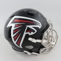 Calvin Ridley Signed Falcons Full-Size Speed Helmet (JSA COA) (See Description) at PristineAuction.com