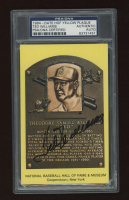 Ted Williams Signed Hall of Fame Plaque Postcard (PSA Encapsulated) at PristineAuction.com