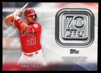 Mike Trout 2021 Topps 70th Anniversary Commemorative Logo Patches #70LPMT at PristineAuction.com