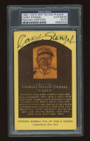 Casey Stengel Signed Hall of Fame Plaque Postcard (PSA Encapsulated) (See Description) at PristineAuction.com