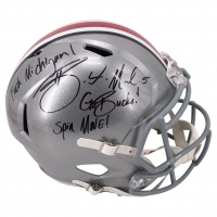 "Braxton Miller Signed Ohio State Buckeyes Full-Size Speed Helmet Inscribed ""F*** Michigan"", ""Go Bucks!"" & ""Spin Move"" (JSA COA) at PristineAuction.com"