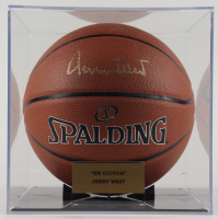 Jerry West Signed Basketball with Display Case (JSA COA) (See Description) at PristineAuction.com