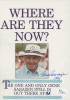 "Gene Sarazen Signed ""Where Are They Now?"" 6x9 Print Inscribed ""1991"" & ""91"" (JSA COA) at PristineAuction.com"
