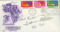 Desmond Tutu Signed 1973 United Nations Council for Southwest Africa FDC Envelope with Inscription (JSA COA) (See Description) at PristineAuction.com
