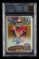 Colin Kaepernick 2011 Topps Chrome Rookie Autographs Refractors Variations #25 (BGS 9) at PristineAuction.com