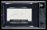 Arthur Ashe Signed 2.5x4 Cut (BGS Encapsulated) at PristineAuction.com