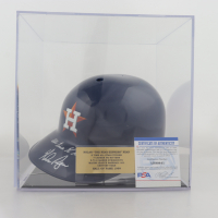 "Nolan Ryan Signed Astros Full-Size Batting Helmet with Display Case Inscribed ""All Time H King"" (PSA COA) at PristineAuction.com"