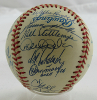 1999 Yankees OAL Baseball Team-Signed by (28) with Joe Torre, Willie Rudolph, Darren Holmes, Mel Stottlemyre, Derek Jeter, Jorge Posada (JSA LOA) at PristineAuction.com