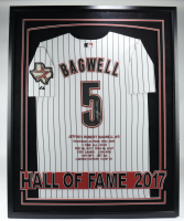 Jeff Bagwell Signed LE Astros 33.5x42 Custom Framed Career Hightlight Stat Jersey Display (TriStar Hologram) (See Description) at PristineAuction.com