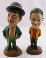 Set of (2) 1971 Esco Laurel & Hardy Statues at PristineAuction.com