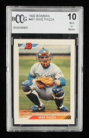 Mike Piazza 1992 Bowman #461 RC (BCCG 10) at PristineAuction.com