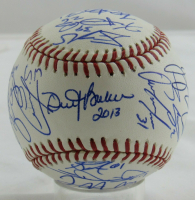 2013 Reds OML Baseball Team-Signed by (30) with Dusty Baker, Sean Marshall, Corky Miller, Ryan Hanigan (MLB Hologram) at PristineAuction.com
