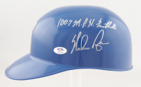 "Nolan Ryan Signed Rangers Full-Size Helmet Inscribed ""100.7 M.P.H. Fastball"" with Display Case (PSA COA) (See Description) at PristineAuction.com"