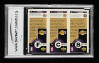 Kobe Bryant / Elden Campbell / Derek Fisher 1996-97 Collector's Choice Los Angeles Lakers #L1 RC (BCCG 10) at PristineAuction.com