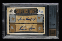 Sandy Koufax / Nolan Ryan 2012 SP Signature Superstars Signatures Dual #KR 10 (BCCG 9) at PristineAuction.com