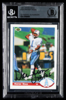 "Warren Moon Signed 1991 Upper Deck #256 Inscribed ""HOF 06"" (BGS Encapsulated) at PristineAuction.com"