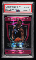 Zion Williamson 2019-20 Panini Prizm Draft Picks Prizms Pink Pulsar #51 CR (PSA 10) at PristineAuction.com
