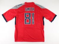 "Jonnu Smith Signed Titans Jersey Inscribed ""#TitanUp"", ""Jonnuuu!"", & ""Go Titans"" (Beckett COA) at PristineAuction.com"