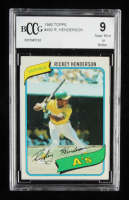 Rickey Henderson 1980 Topps #482 RC (BCCG 9) at PristineAuction.com