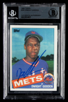 "Dwight ""Doc"" Gooden Signed 1985 Topps #620 RC (BGS Encapsulated) at PristineAuction.com"