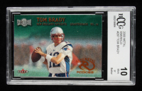 Tom Brady 2000 Metal Emerald #267 RC (BCCG 10) at PristineAuction.com