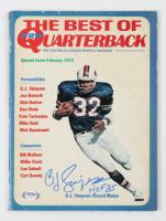 "O.J. Simpson Signed 1974 ""Pro Quarterback"" Magazine Inscribed ""HOF 85"" (PSA COA) (See Description) at PristineAuction.com"