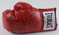 "Vinny Pazienza Signed Everlast Boxing Glove Inscribed ""5x!"" & ""The Pazmanian Devil"" (Schwartz COA) at PristineAuction.com"