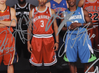 2009 NBA Draft Class 16x20 Photo Signed by (8) with Stephen Curry, James Harden, Tyreke Evans, Jonny Flynn (JSA LOA) at PristineAuction.com