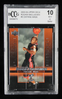 Dwyane Wade 2003-04 Upper Deck Rookie Exclusives #5 RC (BCCG 10) at PristineAuction.com