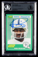 Andre Rison Signed 1989 Score #272 RC (BGS Encapsulated) at PristineAuction.com