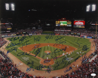 2011 Cardinals 16x20 Photo Signed by (30) with Lou Brock, Bob Gibson, Tony LaRussa, Mark McGwire, David Freese (JSA LOA) at PristineAuction.com