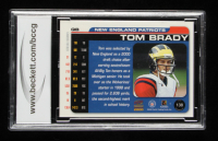 Tom Brady 2000 Paramount #138 RC (BCCG 9) at PristineAuction.com