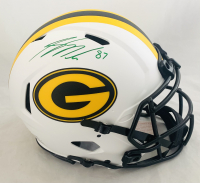Jordy Nelson Signed Packers Full-Size Authentic On-Field Lunar Eclipse Alternate Speed Helmet (Beckett Hologram) at PristineAuction.com