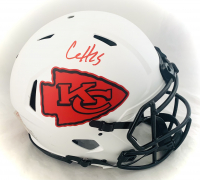 Clyde Edwards-Helaire Signed Chiefs Full-Size Authentic On-Field Lunar Eclipse Alternate Speed Helmet (Beckett Hologram) at PristineAuction.com