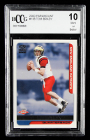 Tom Brady 2000 Paramount #138 RC (BCCG 10) at PristineAuction.com