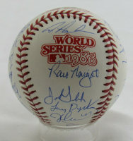 1986 Mets World Series Baseball Team-Signed by (23) with Dwight Gooden, Darryl Strawberry, Davey Johnson, Ray Knight (Beckett LOA) at PristineAuction.com