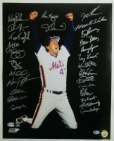 1986 Mets 16x20 Photo Team-Signed by (27) with Wally Backman, Howard Johnson, Tim Teufel, John Gibbons, Roger McDowell, Darry Strawberry (Beckett LOA) at PristineAuction.com