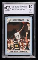 Michael Jordan 1990-91 North Carolina Collegiate Collection #89 (BCCG 10) at PristineAuction.com