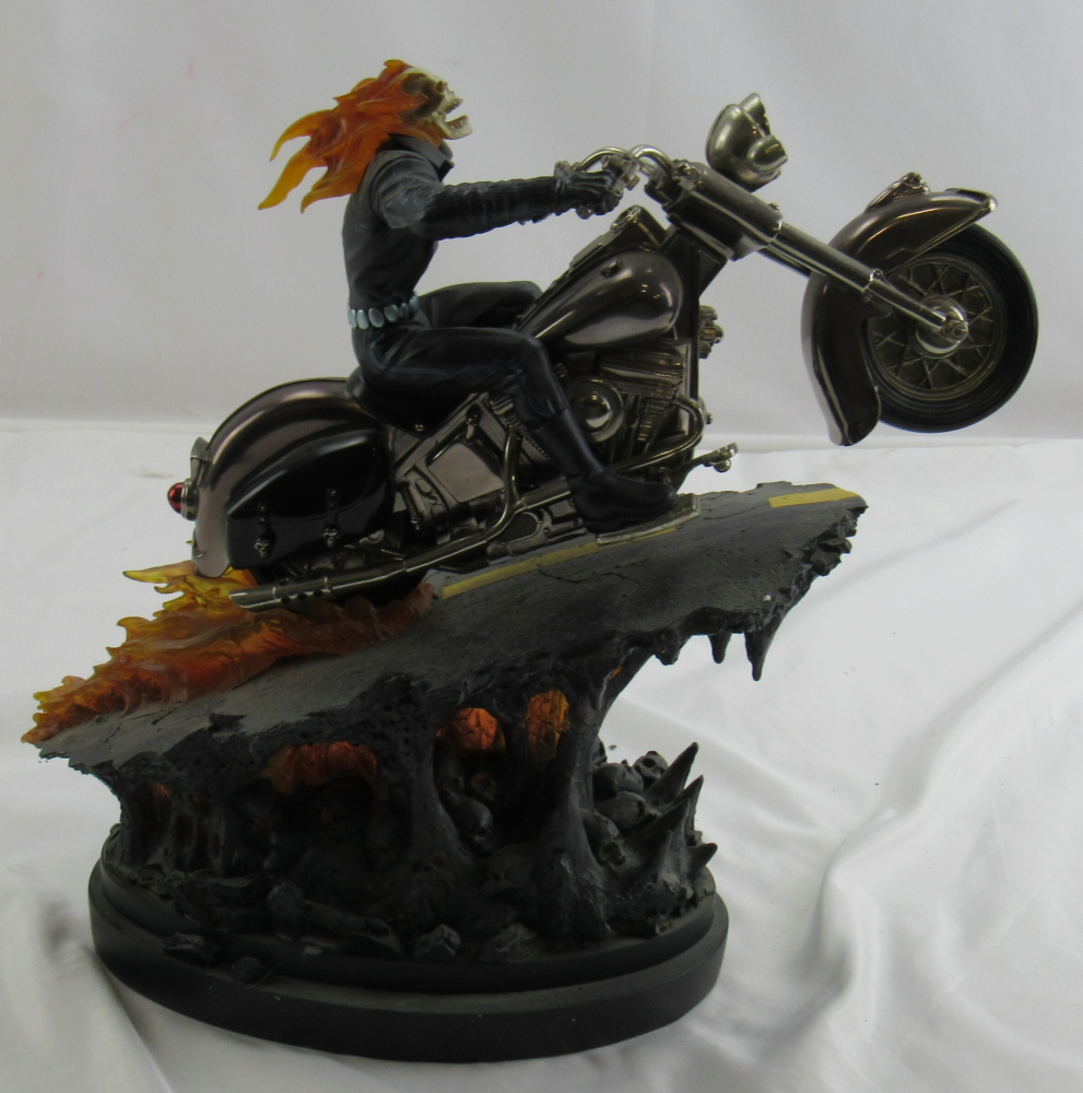 """Marvel """"Ghost Rider"""" Super Chrome Version By Randy Bowen Figure Figurine at PristineAuction.com"""