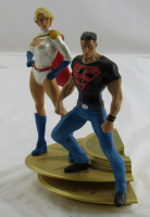 DC Direct Superman Family Multi-Part Statue Part 1 Superboy & Power Girl Statue Figurine at PristineAuction.com
