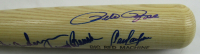 1975 Reds Louisville Slugger Baseball Bat Team-Signed by (9) with Pete Rose, Sparky Anderson, Johnny Bench (Steiner COA) at PristineAuction.com