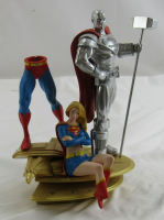 Superman Family Multi Part Statue 2 Steel Supergirl DC Direct Statue Statue Figurine at PristineAuction.com