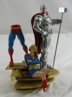 Superman Family Multi Part Statue 2 Steel Supergirl DC Direct Statue Statue Figurine at PristineAuction.com
