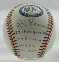 Don Larsen Signed LE OML Perfect Game Logo Baseball With (4) Career Stat Inscriptions (JSA Hologram) at PristineAuction.com