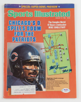 """Mike Singletary Signed 1986 Sports Illustrated Magazine Inscribed """"HOF 98"""" (PSA COA) at PristineAuction.com"""