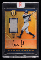 Aaron Judge 2017 Panini Gold Standard #32 Autograph Jersey RC #41/199 at PristineAuction.com