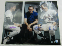 Tom Seaver, Nolan Ryan & Ryan Jerry Signed 1969 Mets Pitchers 16x20 Photo (MLB Hologram & Steiner Hologram) at PristineAuction.com