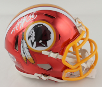 Adrian Peterson Signed Redskins Chrome Speed Mini-Helmet (Beckett COA) at PristineAuction.com