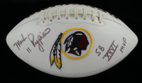 "Mark Rypien Signed Redskins Logo Football Inscribed ""Super Bowl XXVI MVP"" (JSA COA) at PristineAuction.com"